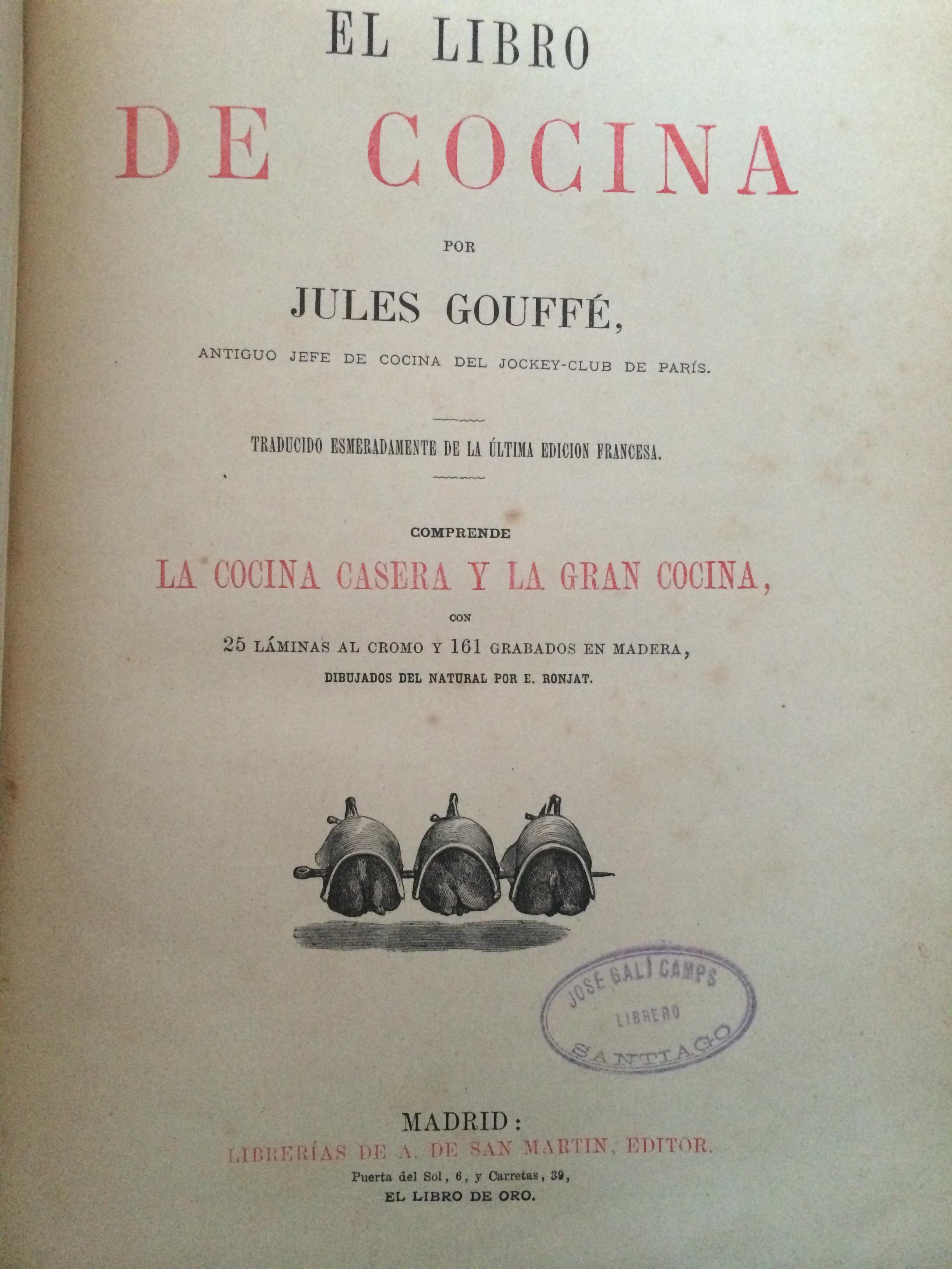 libros de cocina antiguos de jules gouff 1807 1877